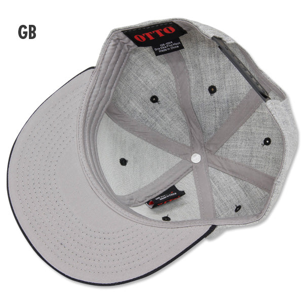 MOON Custom Cycle Shop Flat Hat Visor Cap Grey/Black