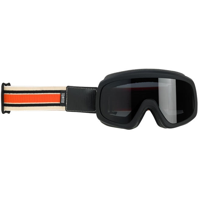 Biltwell Overland 2.0 Racer Goggle Black Factory Strap Cream/Orange