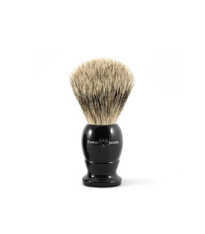 Edwin Jagger English Shaving Brush, Imitation Ebony Best Badger S