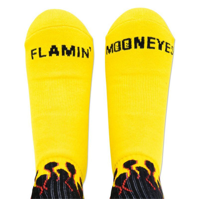 Flamin' MOON Socks Black