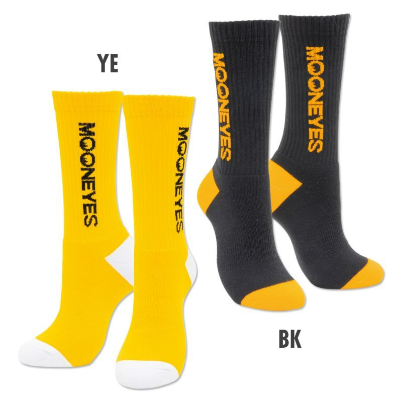 MOONEYES Vertical Logo Socks Yellow