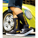 MOONEYES Vertical Logo Socks Black