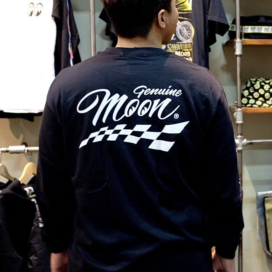 Genuine MOON Checker Long Sleeve T-Shirt Black