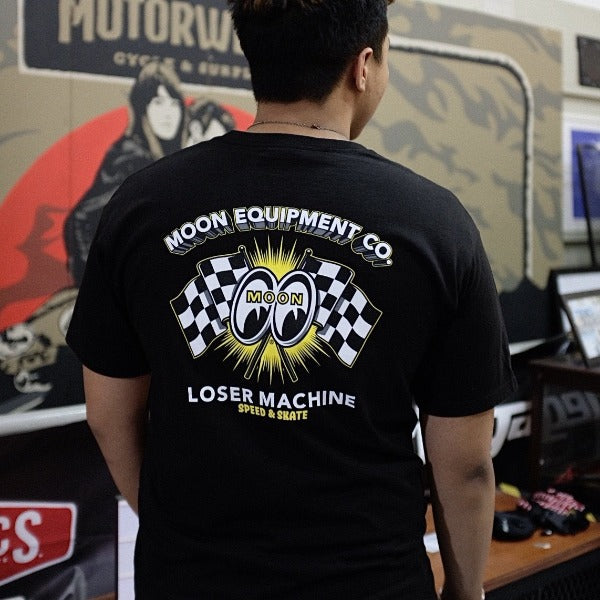 Loser Machine x MOON Fastest Lap T-shirt Black