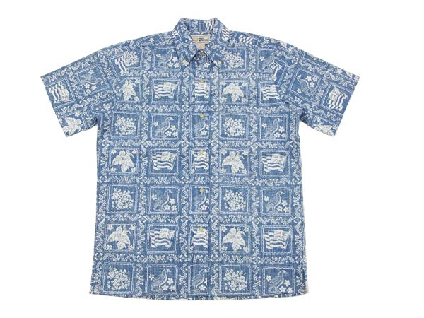 Moon Eyes Rat Fink Button Down Shirt - Navy