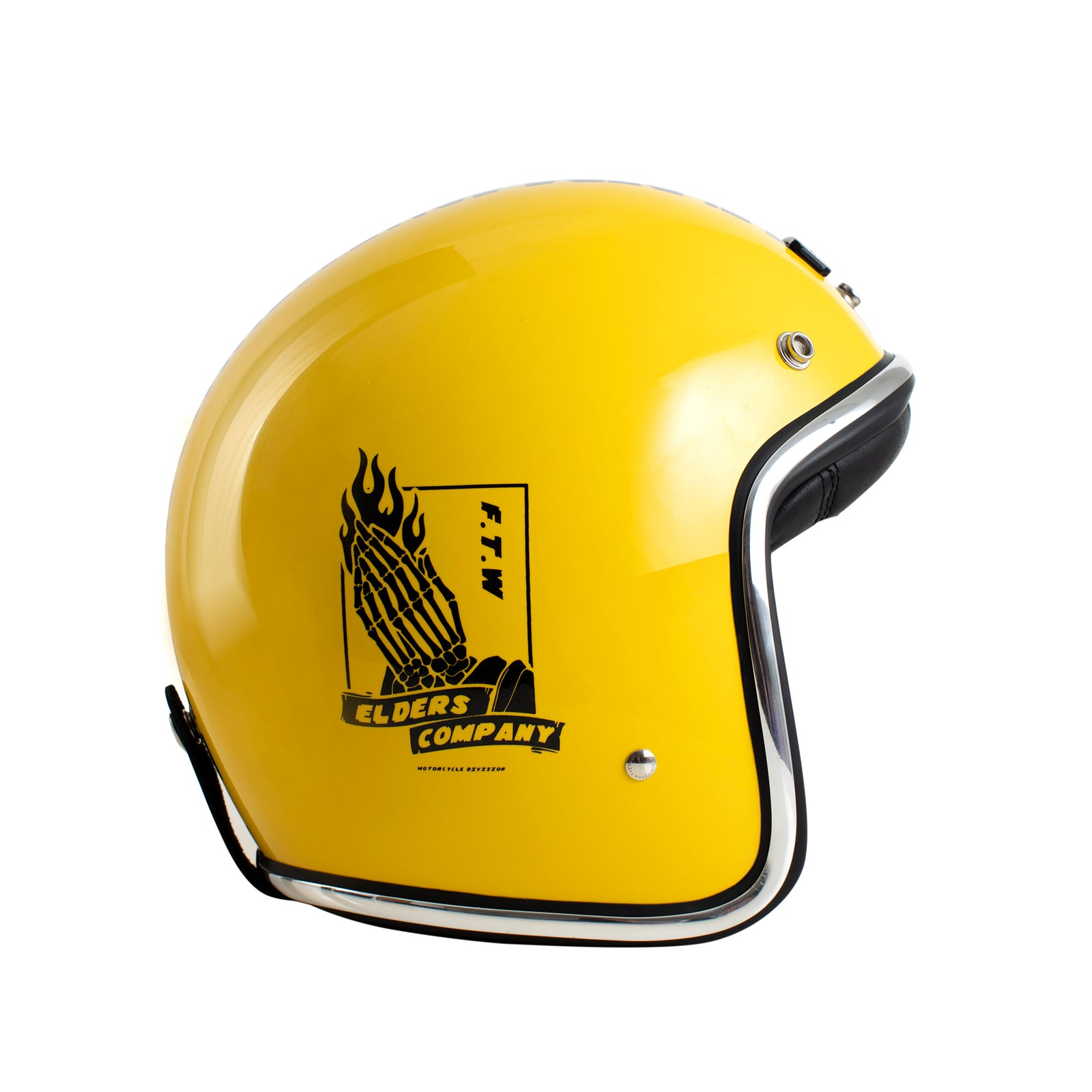 EC X Mooneyes Helmet Yellow