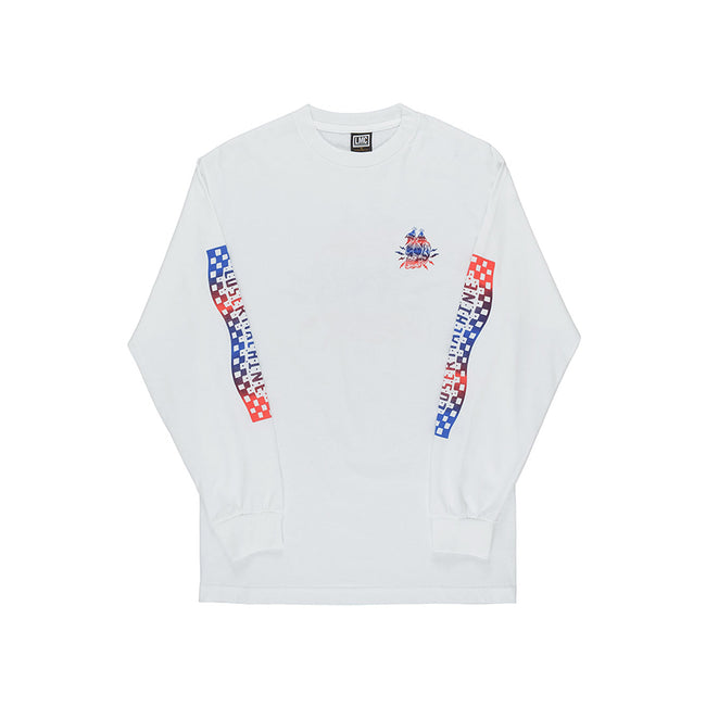 Loser Machine Burnout Long Sleeve Tee White