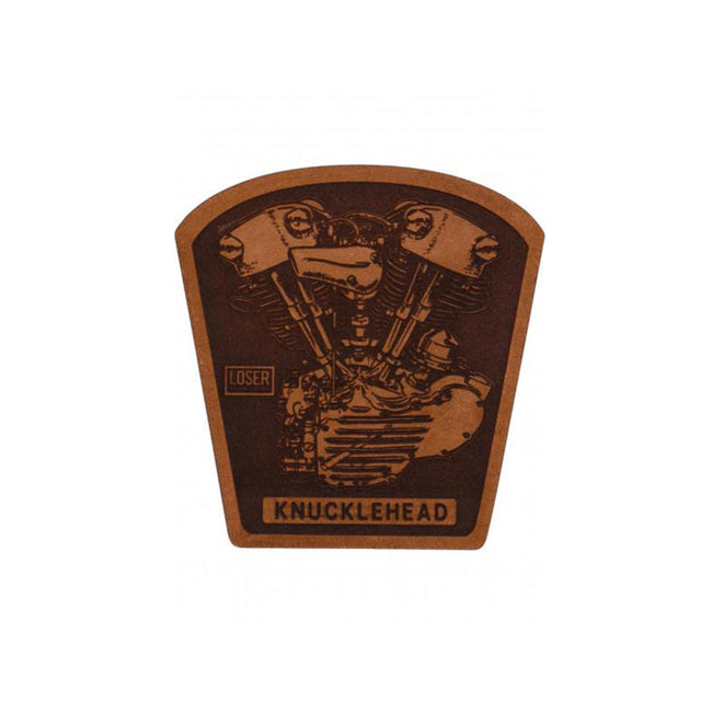 Loser Machine Leather Patch - Knucklehead