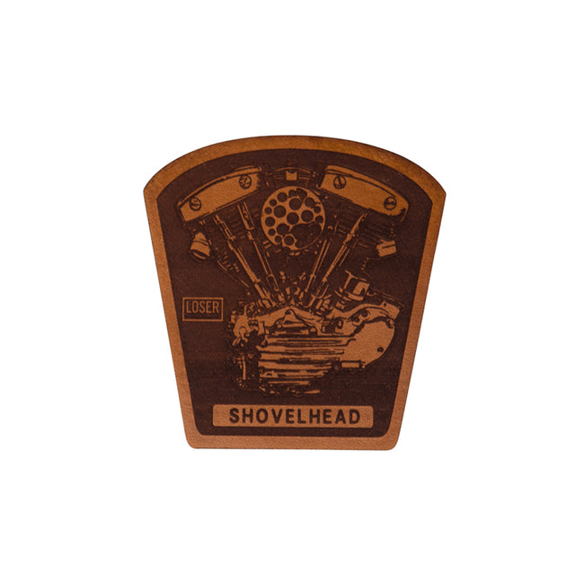 Loser Machine Leather Patch - Shovelhead