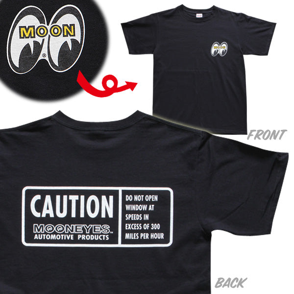 MOON Caution T-Shirt Black