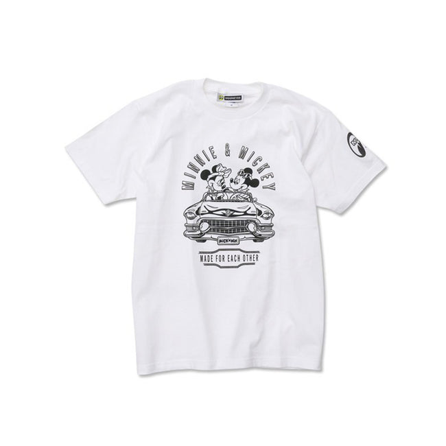 Moon Eyes Mickey Drive T-Shirt - White