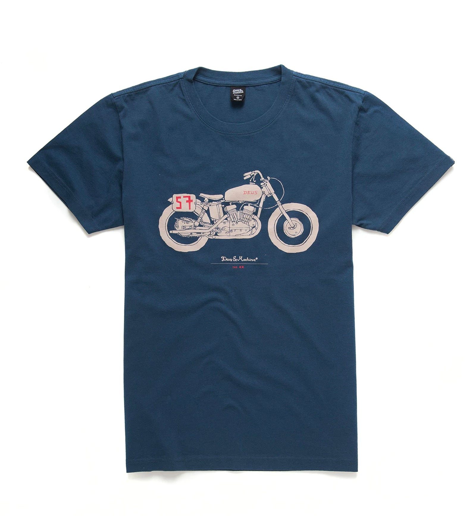 Deus The Kr T-Shirt- Navy