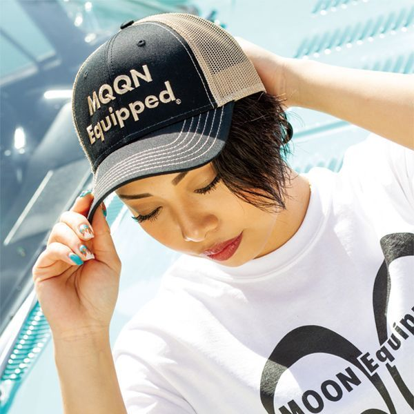MOON Equipped Twill Cap BK Black/Khaki