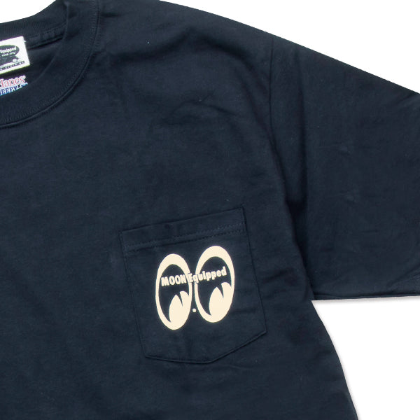 MOON Equipped T-Shirt with Pocket Black