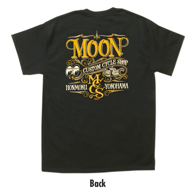 MOON Custom Cycle Shop T-shirt Black