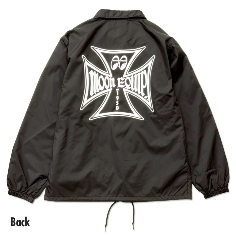 MOON Equipped Iron Cross Coach Jacket Black