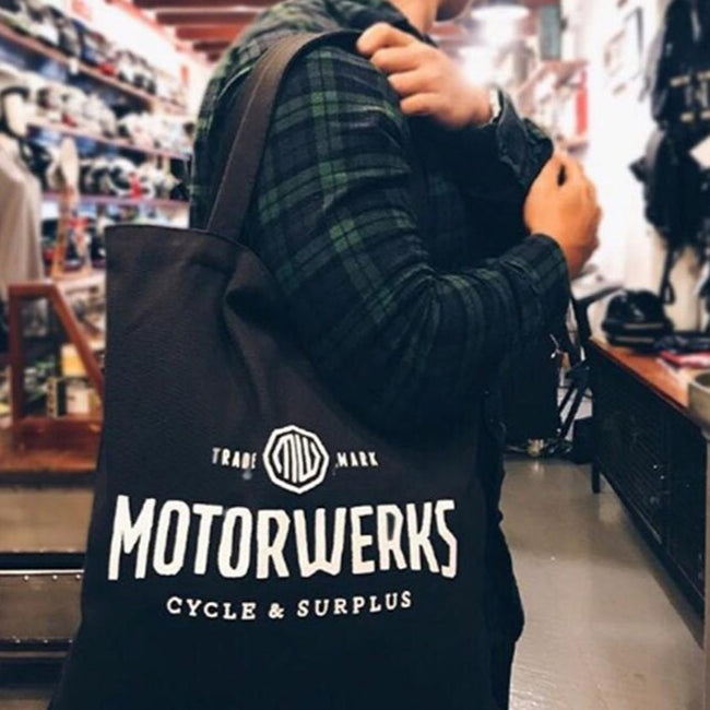 Motorwerks Black Tote Bag