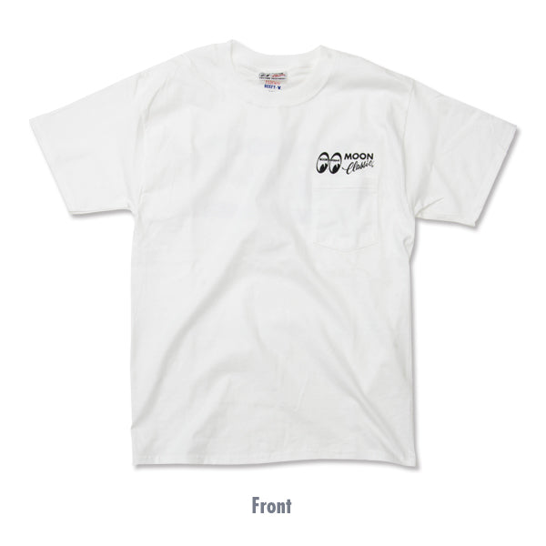 MOON Classic Logo T-shirt with Pocket White