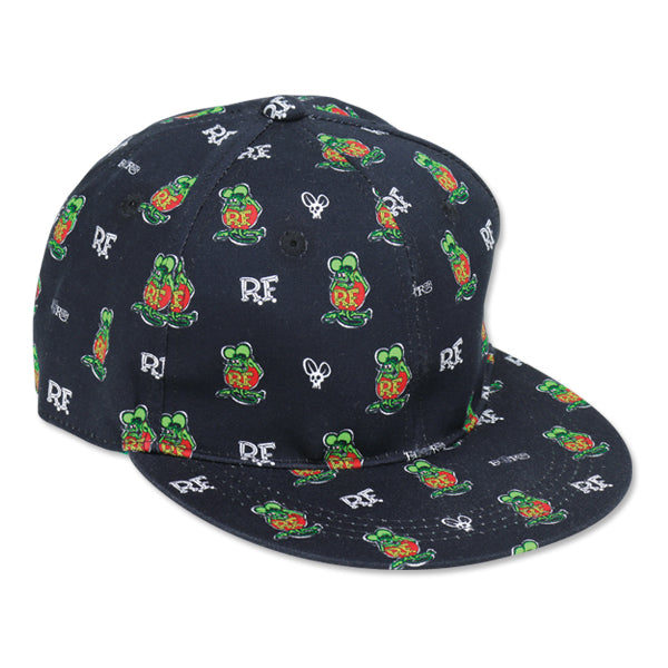 Moon Eyes Rat Fink Monogram Cap - Black