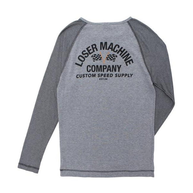 Loser Machine Speed Supply Custom Long Sleeve Grey