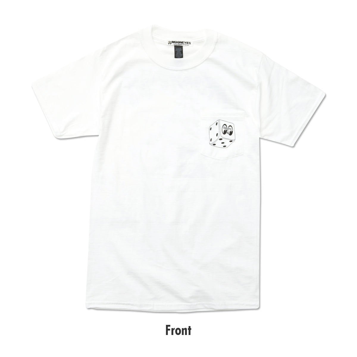 MOON Dice Pocket T-shirt White