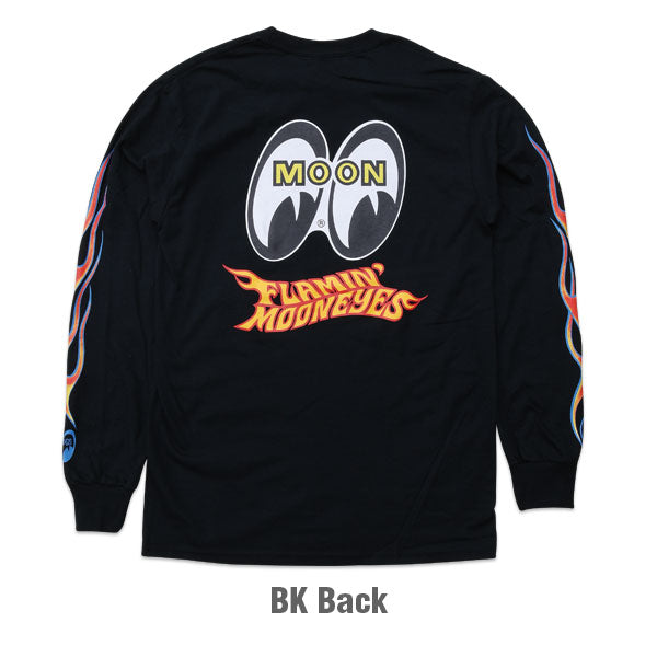 Flamin' MOONEYES Long Sleeve T-Shirt Black