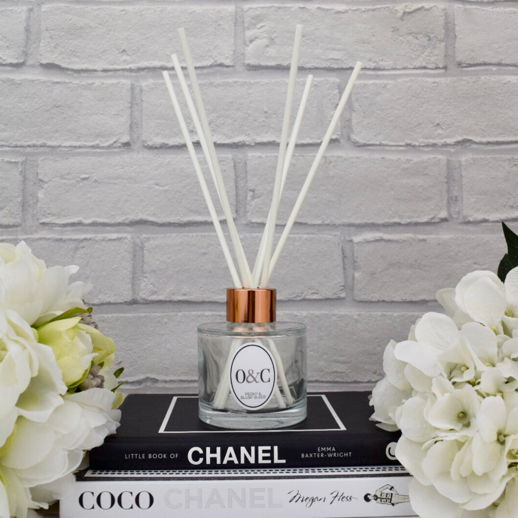 100ml Peony & Blush Suede Reed Diffuser