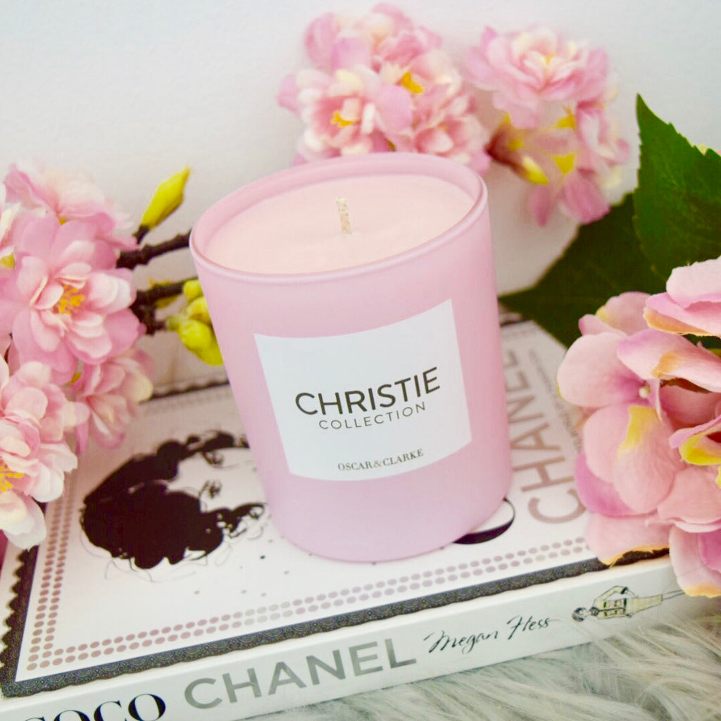 Christie Collection Matte Pink Candle