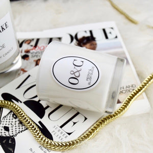 9cl White Signature Candle