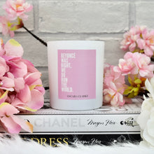 NEW 30cl Matte White Slogan Candle