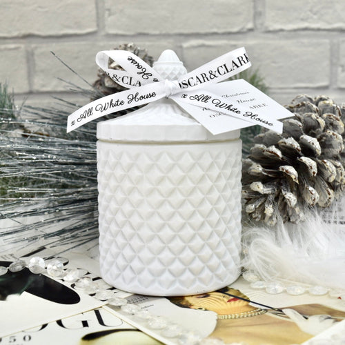 All White Christmas by All White House Matte White Geo Candle