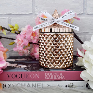Rose Gold Diamond Geo Candle