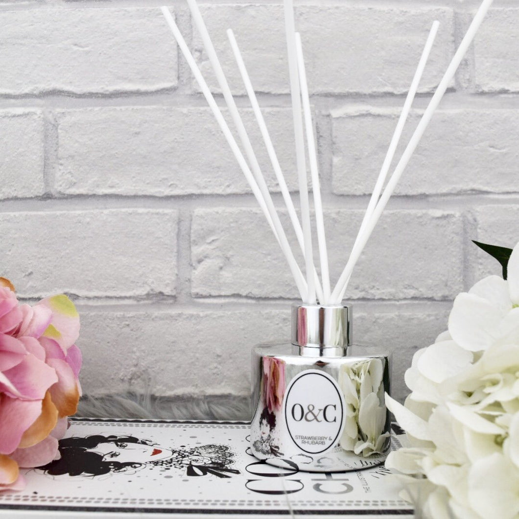 100ml Electroplated Silver Reed Diffuser