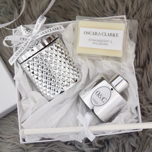 Silver Diamond Geo, Reed Diffuser & Wax Melts Gift Set
