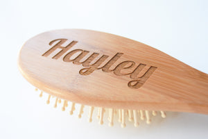"""Personalised Bamboo Hair Brush"""