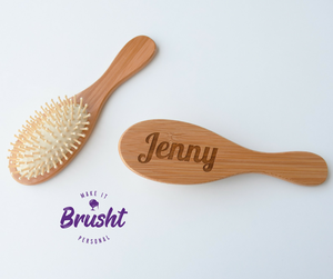Personalised Bamboo Hairbrush