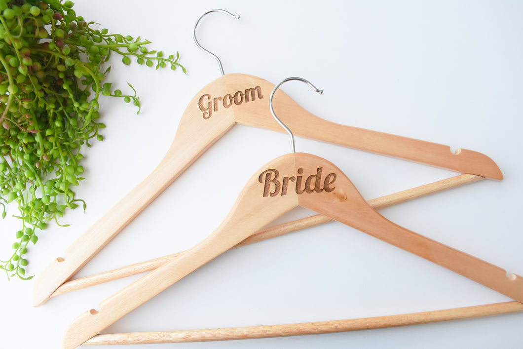 Personalised Wooden Coat Hangers