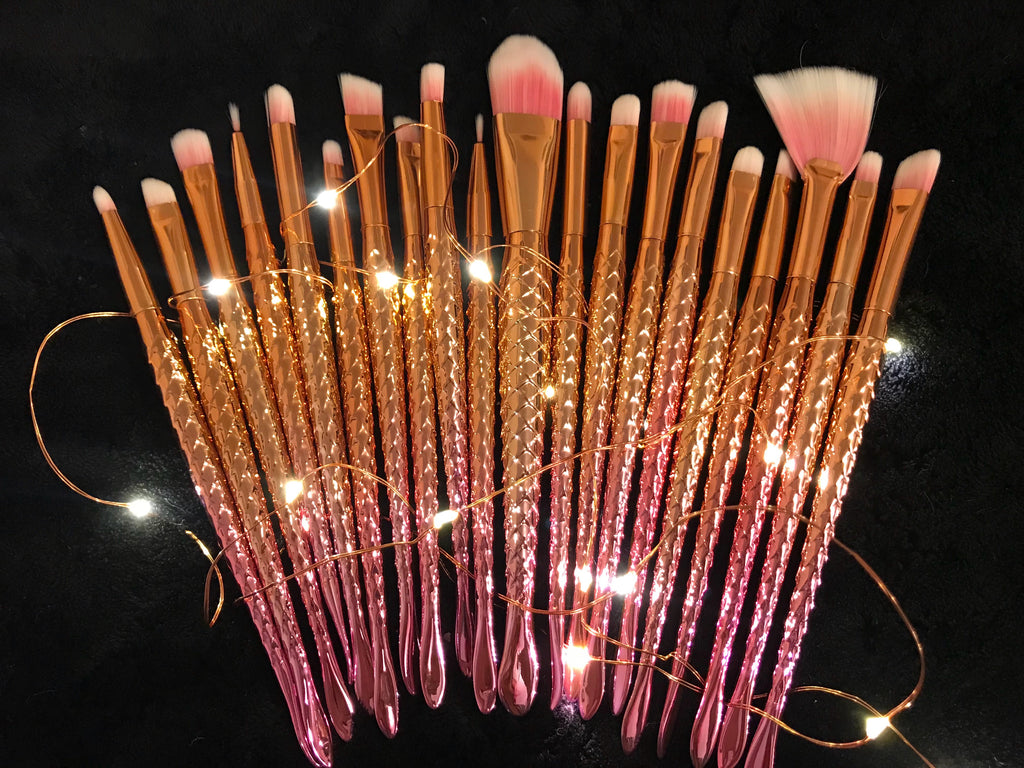 Unicorn Makeup Brushes (20pcs)