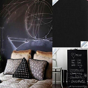 shopping list and a head board made of black board sticker