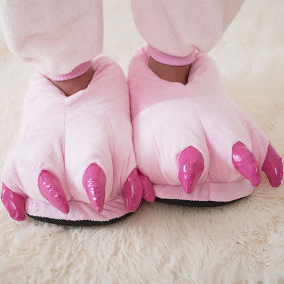 Soft Winter Animal Paw Slippers