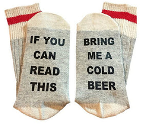if you can read this bring me a cold of beer socks laid flat