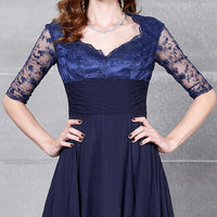 Gorgeous Navy Blue Gown Dress