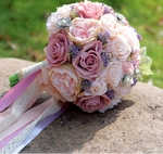 Summer Rose Artificial Wedding Bouquet