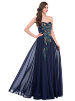 Beautiful Peacock Gown Dress/ Sizes 2-16