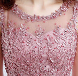 Dark Pink Embroidery Beaded Dress