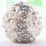 Princess Wedding Bouquet with Brooches and Rhinestones
