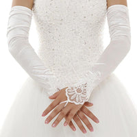 Elegant Satin Bride Gloves