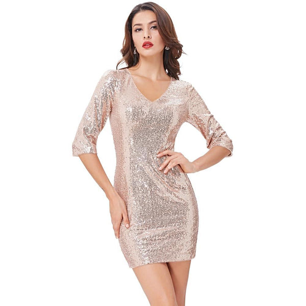 Silver and Gold Cocktail Party Dress!