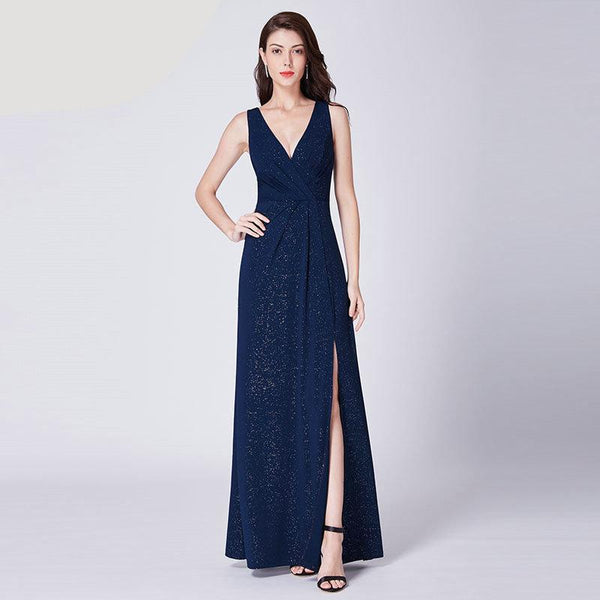 Beautiful Navy Blue Evening Gown