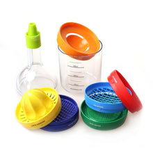 BIG DISCOUNT!!! 8 In 1 Bottle Shape-Professional Slicer, Grater, Grinder, Funnel, Egg Separator,Measuring Cup and MORE!!